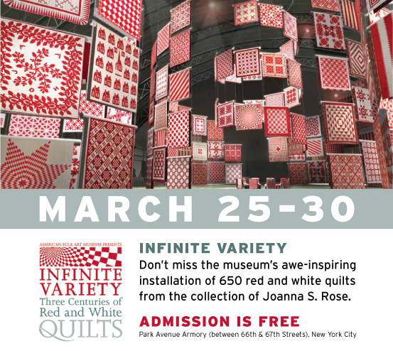 Did You Catch the RED & WHITE Quilts??