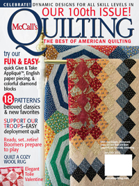 100 Issues - Congratulations, McCall's Quilting!