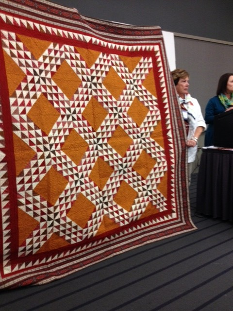 Mary Ellen Robison and Paula Barnes of Red Crinoline Quilts