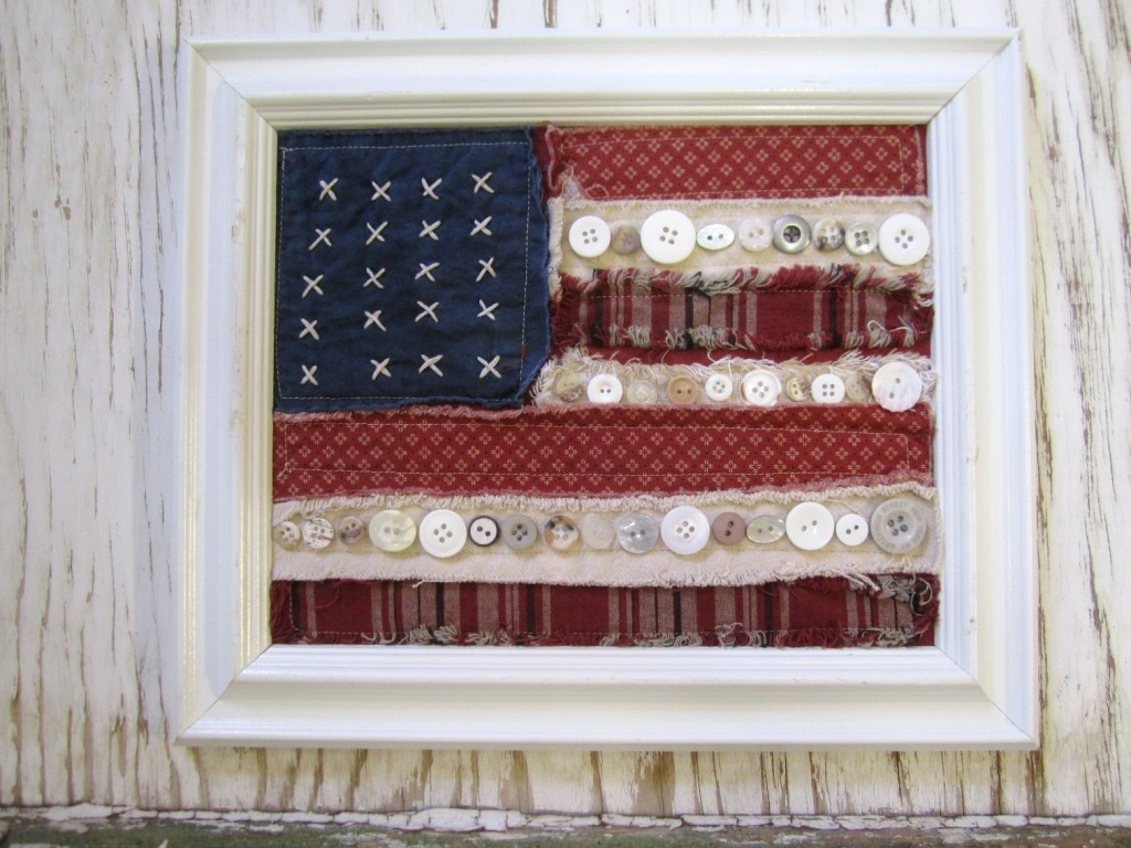 "Stitch Miriam's ""Buttoned-Up Flag"" for the Fourth! 