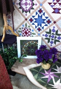 Nancy Rink's purples highlight MILL WORKS fabrics & BOM program.