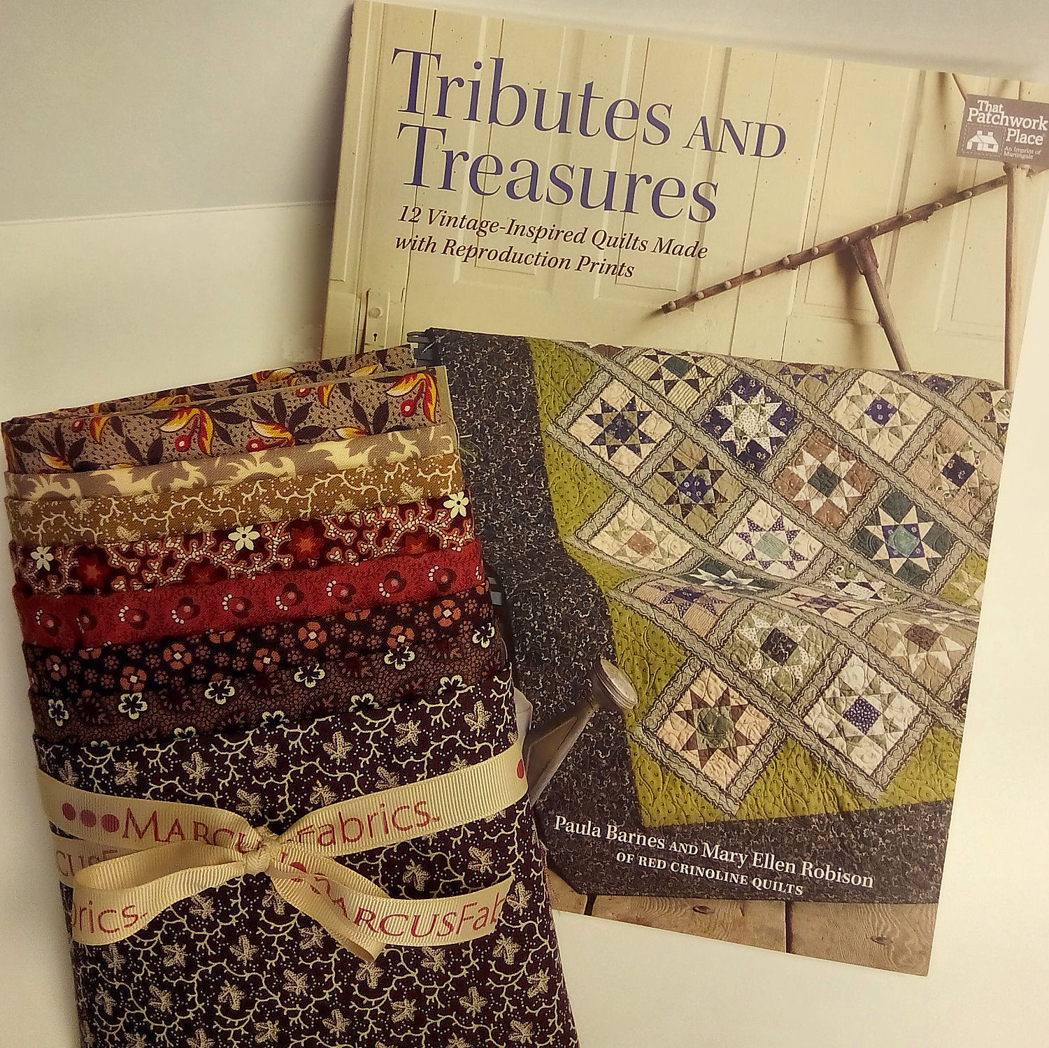 Red Crinoline Quilts fabric and book giveaway