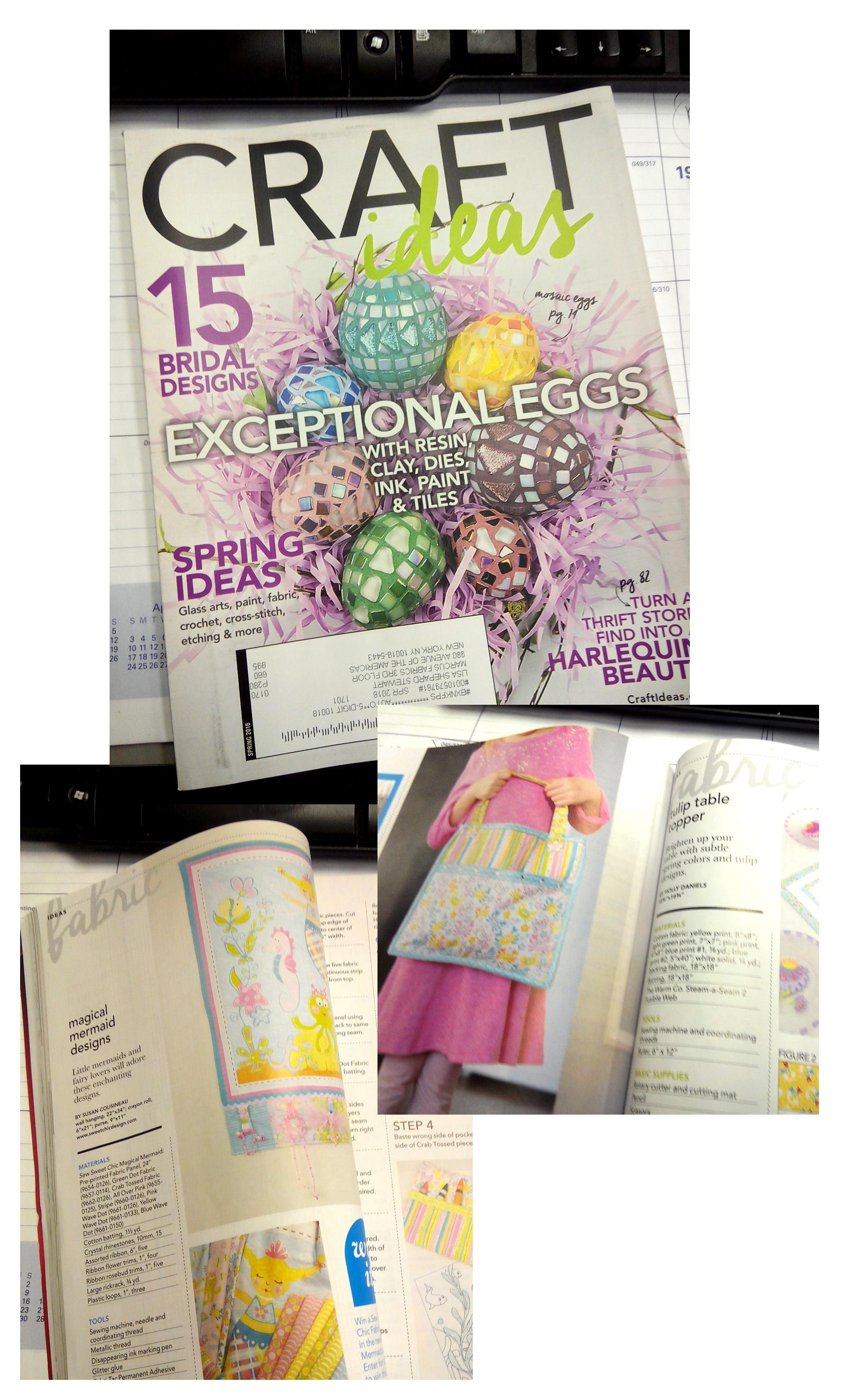 Look Who S In Craft Ideas Magazine Now The Marcus Fabrics Blog